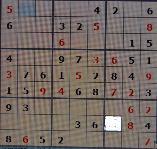 Quel est le chiffre qui va dans la case blanche ?