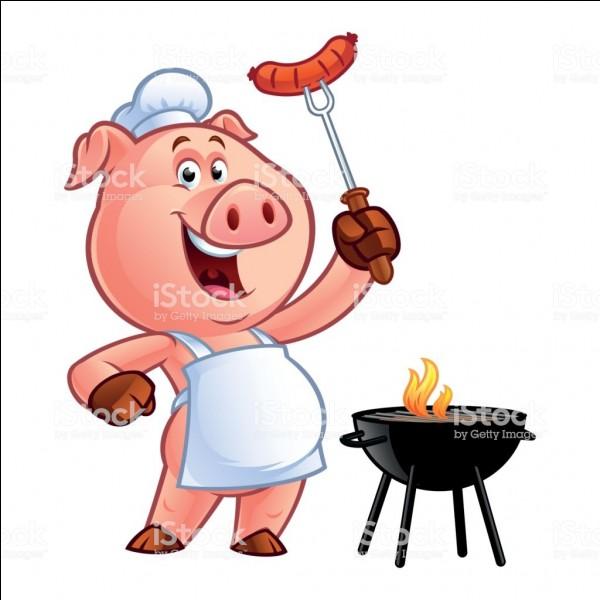 Comment s'appelle le petit cochon quand il est sur le grill ?