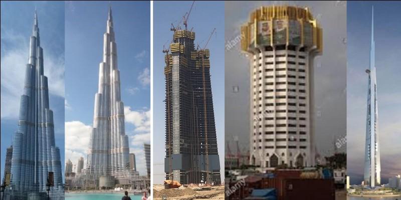 Depuis 2010, on voit bien que le prix du pétrole permet de battre le record du bâtiment le plus haut ! Hélas pour ce bâtiment, vers 2021 - 2022 (à priori), le prix du pétrole va aussi permettre de battre ce record !Quels sont ces deux bâtiments (en premier, l'actuel détenteur, en deuxième, le futur détenteur) ?