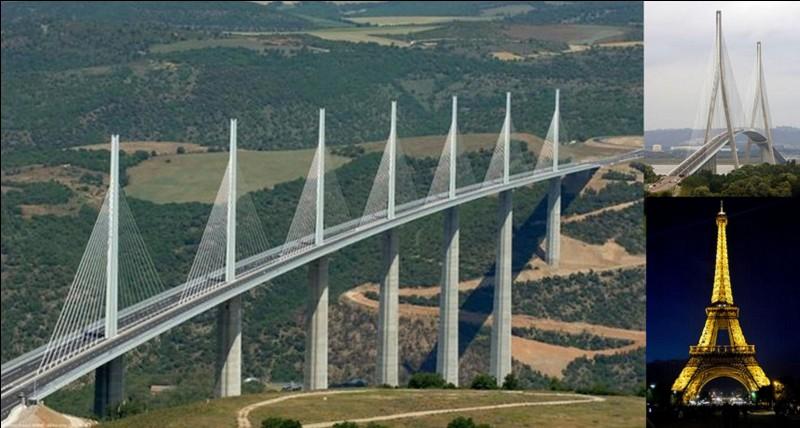 En oubliant les mats, les pylônes des émetteurs radio/télé (militaires ou civils), en oubliant les cheminées d'usines, quelle est la construction la plus élevée que l'on puisse trouver en France ?