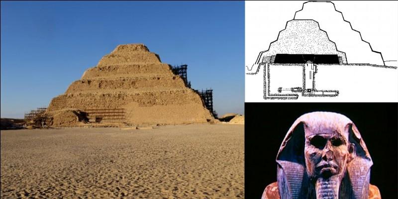 Apparemment, il a fallu attendre plus de 8500 ans pour que le record précédent soit battu ! Vers 2650 avant JC, la pyramide de Djeser (Saquarah) est terminée, elle atteint la hauteur de 62 mètres. Elle est destinée à devenir la sépulture de ce pharaon et de la famille royale.Quelle est la particularité de cette pyramide ?