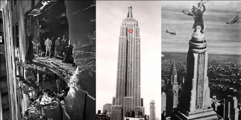 En 1931, la tour Eiffel perd son record de hauteur. Le nouveau détenteur de ce record ne le conservera que 23 ans. A cause de plusieurs films, on pourrait dire que c'est un « monument simiesque » ! En plus, il fut victime d'une catastrophe aérienne !Quel est ce monument ?