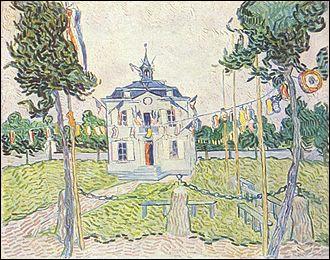 """Qui a peint """"La Mairie d'Auvers-sur-Oise le 14 juillet"""" ?"""