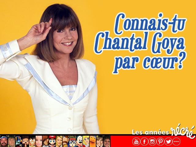 Connais-tu Chantal Goya par coeur ?
