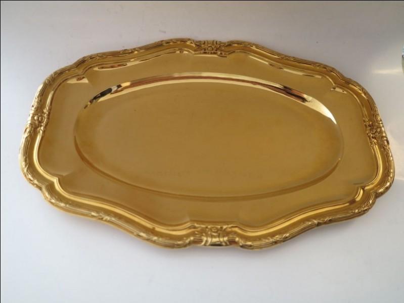 Quel est le métal précieux constitué d'argent recouvert d'or ?