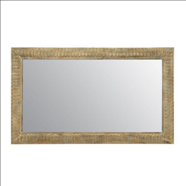 Quel est le nom de la partie métallique d'un miroir, souvent composée d'un mélange d'étain et de mercure, qui effectue la réflexion ?