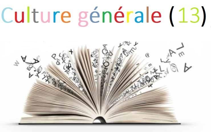 Culture générale illustrée (13)