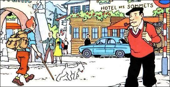 Dans quel album Tintin séjourne-t-il a l'hôtel des Sommets ?