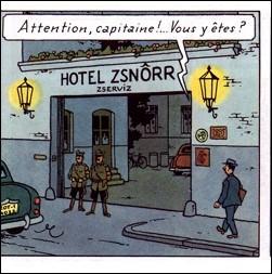 Dans quel album Tintin tente-t-il de quitter un hôtel en cachette ?