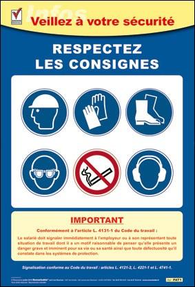L'affichage des consignes de sécurité est obligatoire en entreprise :