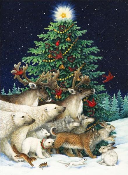 Depuis l'an 680, en Allemagne, le sapin devint l'arbre de Jésus, c'est l'origine du sapin de Noël. Le moine Saint Boniface voulut convaincre les druides que le chêne n'était pas l'arbre sacré. Comment s'y est-il pris ?