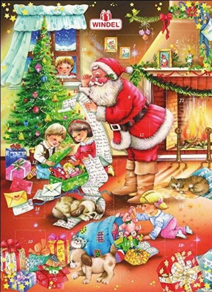 Noël chrétien, Noël païen, peu importe ! C'est la fête pour tous les enfants ! Ils s'y préparent avec le calendrier de l'Avent : combien a-t-il de fenêtres ?