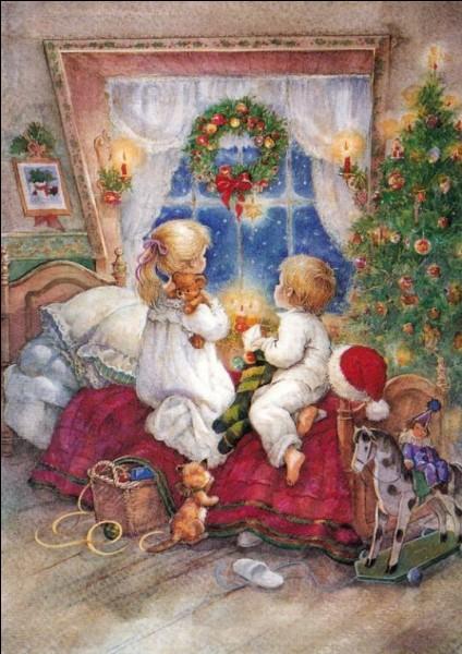 """Graeme Allwright aussi, aide les enfants à attendre le père Noël, aidez-moi à compléter le mot qui manque dans sa jolie chanson : """"Demain matin, petit garçon, tu trouveras dans .......tous les jouets dont tu as rêvé"""""""