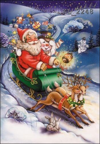 Le père Noël va arriver ! Depuis 1939, combien a-t-il de rennes pour tirer son traîneau ?