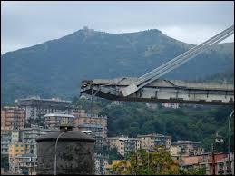 Dans quelle ville italienne le pont Morandi, un immense viaduc autoroutier, s'est-il effondré en 2018 ?
