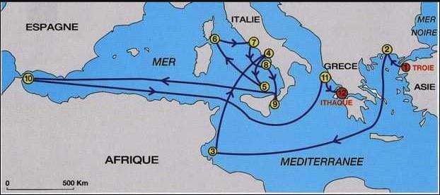 Combien de temps Ulysse mit-il pour rejoindre son royaume à la fin de la guerre de Troie ?