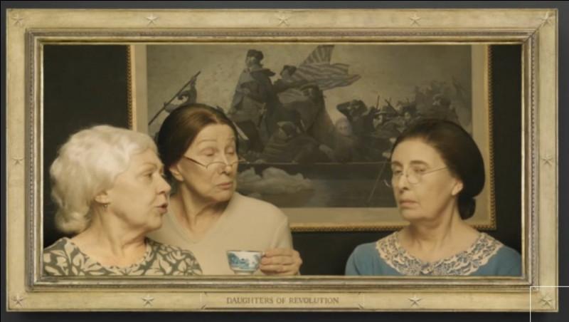 """Des 3 """"Daughters of Revolution"""", l'une d'elles prétend avoir eu une liaison avec le personnage du tableau en arrière plan. Laquelle et lequel ?"""