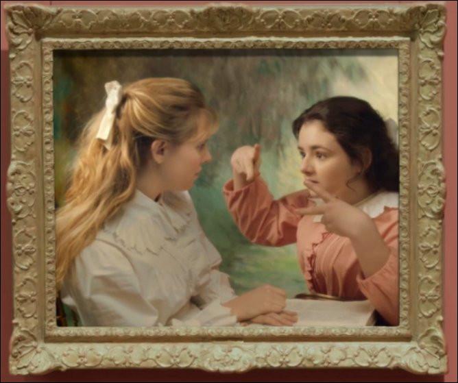 """Les jeunes demoiselles posant pour """"La lecture"""" de ... en ont ras-le-bol de leur dégaine de petites filles modèles : elles veulent """"s'émanciper grave"""" ! Qu'est-ce à dire ?"""