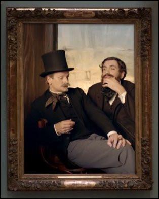On n'échappera toujours pas à la mode : comment appelait-on ces chapeaux hauts-de-forme ? Et qui a peint ces deux gars ?