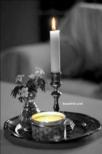 Quel est le nom du petit chandelier bas fixé sur un socle, destiné à une seule bougie, avec un manche destiné à le transporter ?