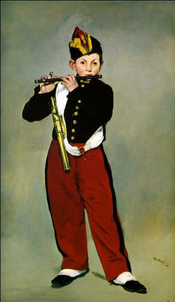 """On aurait perdu le titre de ce tableau de Manet (1866), dont il ne reste que """"...f...f..."""". Retrouvez-le, et qui chantait cette rengaine (en phonétique) : """"Mané, mané, mané, meust bi fanné,..."""""""