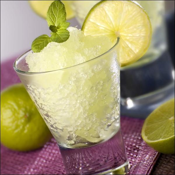 Quel est le nom de cette boisson rafraîchissante à base de glaçons mixés?