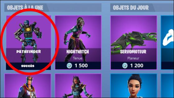 Ce personnage est-il vraiment sorti dans la boutique de Fortnite (celui entouré en rouge) ?