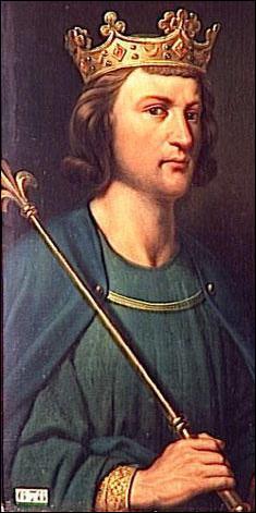 Quel roi de France mourut des suites d'un choc avec le linteau d'une porte, alors qu'il poursuivait une demoiselle à cheval ?