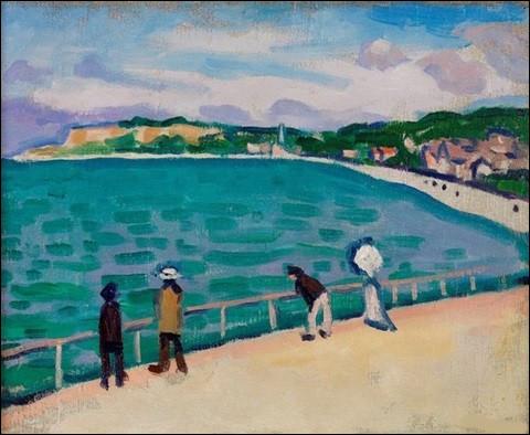 """Qui a peint """"Promenade sur la jetée à Sainte-Adresse"""" ?"""