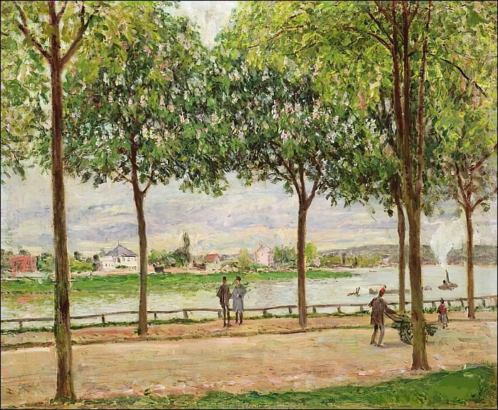 """Qui est l'auteur des """"Promenades des marronniers, Saint-Cloud"""" ?"""
