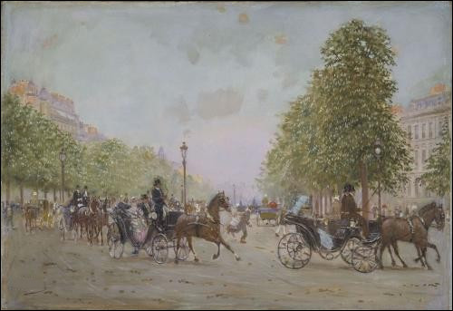 """Qui a représenté """"Promenade aux Champs Élysées - Paris"""" ?"""