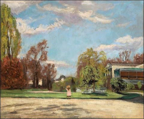 """Qui est l'auteur de la toile """"Promenade au parc"""" ?"""
