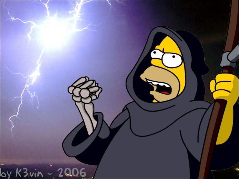 En quoi est déguisé Homer sur cette image ?