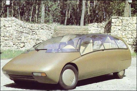 Cette voiture-concept expérimentale a été conçue avec une carrosserie de fourgonnette. Mais d'où sort-elle, avec sa couleur si attrayante ?