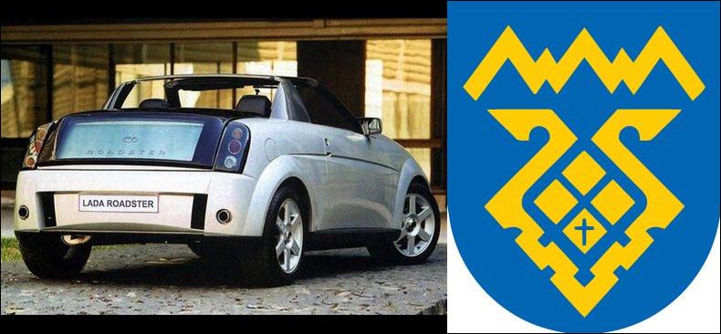 Ce prototype Lada est sortie des cartons du créateur Sergueï Nuzny du centre de Togliatti*, diplômé de l'École Espera Sbarro*. Saurez-vous situer les termes à l'astérisque ?