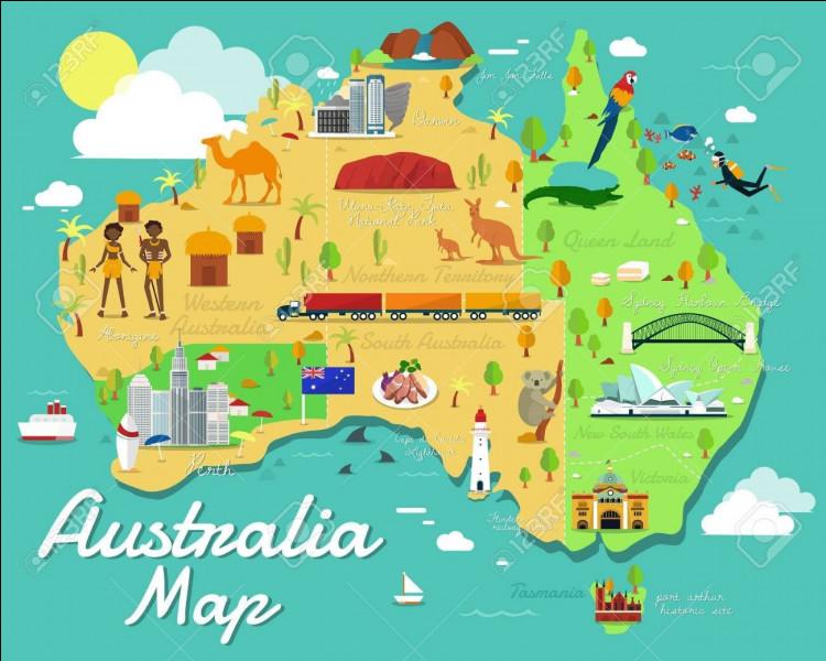 Quel animal apparaît sur le drapeau d'Australie-Occidentale ?
