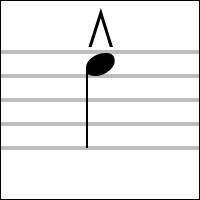 """Notation musicale > Cet """"accent"""", placé au-dessus de la note, indique que celle-ci doit être jouée """"marcato"""". Qu'est-ce à dire ?"""