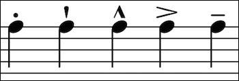 """Notation musicale (suite) > Ces """"façons"""" d'interpréter les notes et les signes qui les représentent sont regroupées sous le terme de/d'... (Complétez !)"""