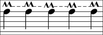 Notation musicale (suite et fin) > Ce signe n'est apparu que récemment : qu'indique-t'il ?