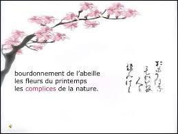 Comment appelle-t-on un petit poème japonais qui retranscrit la beauté d'un instant de vie ou exprime un sentiment éphémère ?