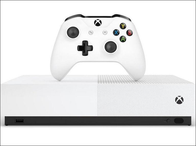 Comment se nomme la console Xbox One conçue entièrement pour une consommation en dématérialisé (sans lecteur DVD) ?