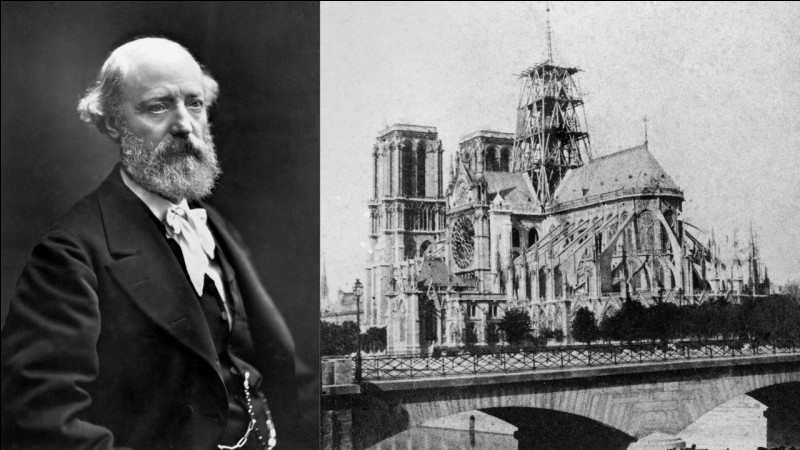 Il a inspiré les d'architectes contemporains mais l'une de ses œuvres a disparu dans l'incendie de Notre-Dame de Paris en 2019. Il s'agit de...