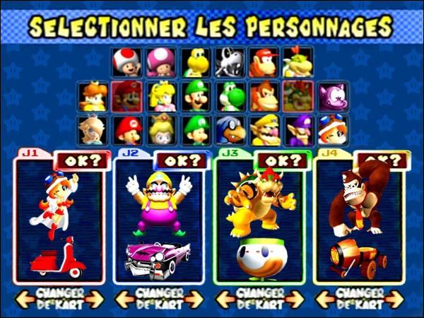 Sur Mario Kart : Double Dash!, jusqu'à combien peut-on avoir de joueurs ?