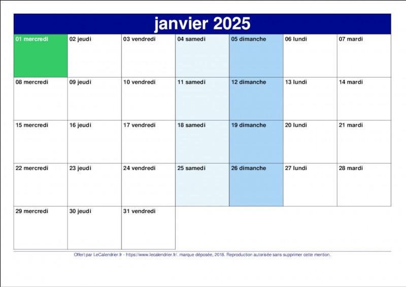 Question un peu plus mathématique : quel jour tombera le 5 juin 2025 ?