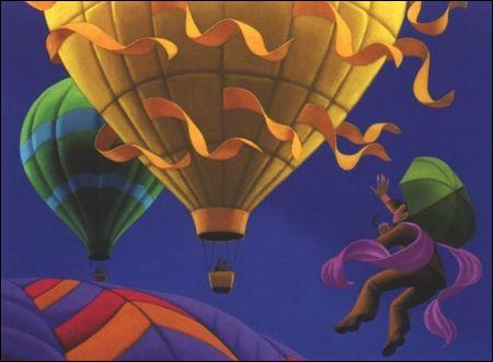 """Et pour finir une peinture, intitulée """"Au bord du vent"""" de l'artiste :"""