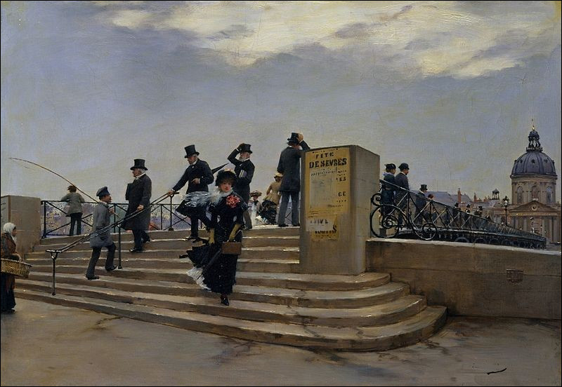 """Qui a peint """"Jour de vent sur le pont des Arts"""" ?"""