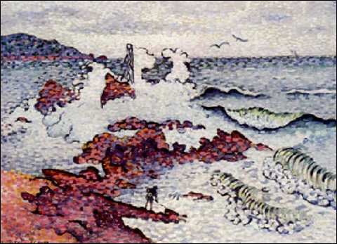 """Sa toile s'intitule """"Méditerranée par vent d'est"""" :"""