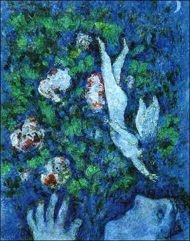 """Il a peint """"Le Vent dans les fleurs au clair de lune"""" :"""