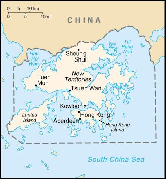 En 1842, à l'issue de la première guerre de l'opium, le Royaume-Uni arrache à la Chine l'île de