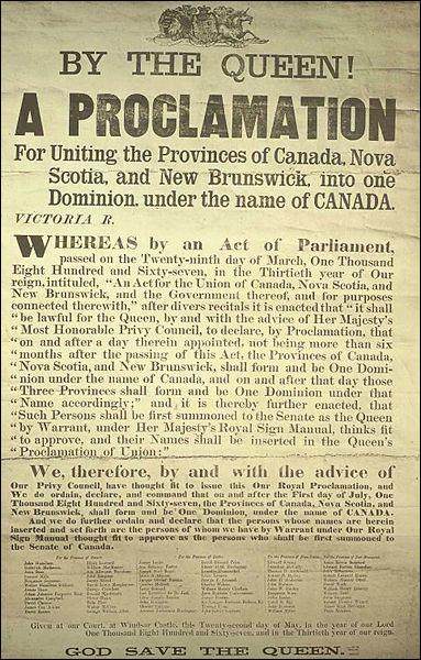 En 1867, le Canada devient autonome. En effet, il devient un
